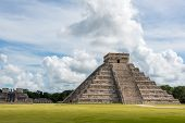 Chichen Itza Main Building. Mayan Historic Building. Traveling Cancun, Mexico, Riviera Maya. Near Pl