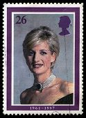 Used British Princess Diana Postage Stamp