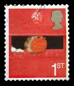 Used British Christmas Postage Stamp