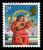 Used Uk Christmas Postage Stamp