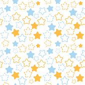 Mixed stars pattern in blue and orange colors