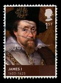 King James I Used Postage Stamp