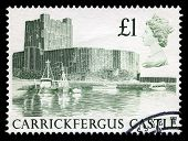Carrickfergus Used Postage Stamp