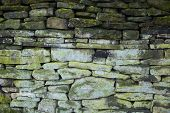 Grungy Green Stone Wall Background
