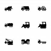 Vector construction transport icon set