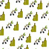 Seamless background with olives