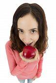 Funny Girl Eating An Apple