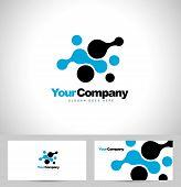 Blue Dots Logo Vector