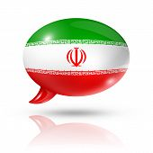 Iranian Flag Speech Bubble