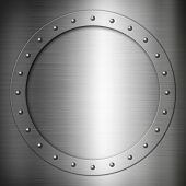 Brushed Steel Round Frame
