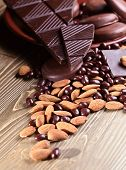 Chocolate And Almond Nuts