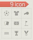 Vector black soccer icon set
