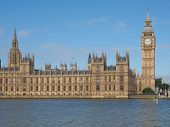picture of palace  - Houses of Parliament aka Westminster Palace in London UK - JPG