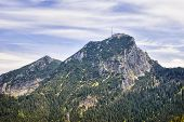 foto of bavaria  - Landscape on the mountain Breitenstein in the Alps with view to Wendelstein in Bavaria Germany - JPG