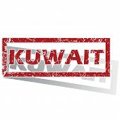 foto of kuwait  - Outlined red stamp with country name Kuwait - JPG