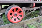 image of trolley  - Part of old railway pump trolley concept of technology - JPG