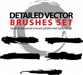 picture of stroking  - Collection of vector scanned and traced black brush strokes - JPG