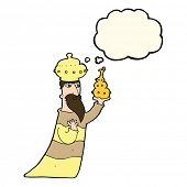 stock photo of wise  - one of the three wise men with thought bubble - JPG