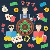 foto of poker machine  - Casino illustration  - JPG