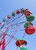 picture of ferris-wheel  - the Ferris wheel in the summer morning - JPG