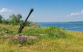 foto of battle  - Landscape of the place where was a military campaign Battle of the Dnieper of World War II - JPG