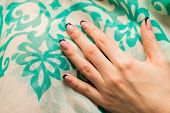 image of  art  - Beautiful manicure nails - JPG