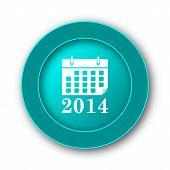 stock photo of calendar 2014  - 2014 calendar icon - JPG