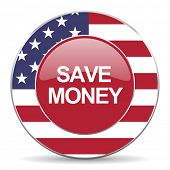 image of american money  - save money american icon original modern design for web and mobile app on white background  - JPG