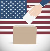 pic of election campaign  - Vote for America Election Abstract Vector Background - JPG