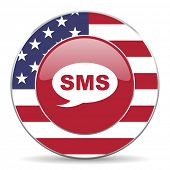 picture of sms  - sms american icon original modern design for web and mobile app on white background  - JPG