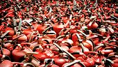 stock photo of fire extinguishers  - Close up of the fire extinguisher used  - JPG