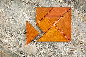 stock photo of tangram  - misfit concept  - JPG