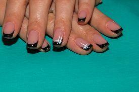 stock photo of nail paint  - Beautiful manicure nails - JPG
