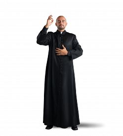 foto of priest  - Priest is a blessing to the faithful - JPG