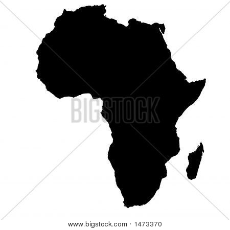 Bw Map Of Africa poster
