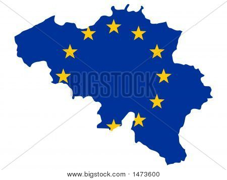 Map Of Belgium poster