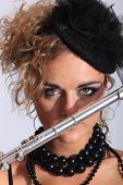 Beautiful and sexy Flautist