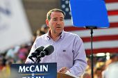 O'FALLON - AUGUST 31: Former Governor of Arkansas Mike Huckabee speaks at a McCain and Palin rally i