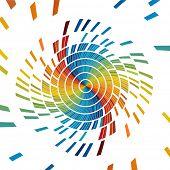 pixels de cores diferentes