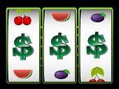 Casino slot machine with dollar sign