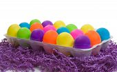 Full Carton Of Colorful Plastic Eggs