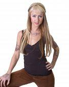 Tattoo Girl Standing