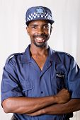 south african policeman portrait