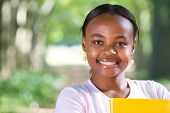 portrait of a young female african american university student