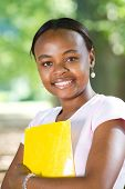 picture of young girls  - portrait of a young female african american student - JPG
