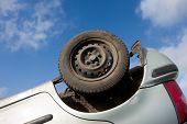 Car Turned Upside-down, Detail
