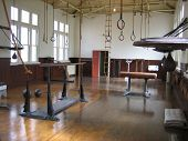 Turn Of The 20Th Century Gym With Vintage Equipment