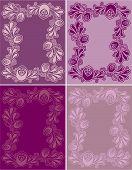 Floral Decorative Frames V4