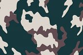 illustration with military camouflage background