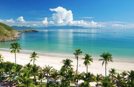 foto of beach holiday  - Beach Scene - JPG